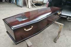 Цинковый гроб/Цинковый гроб полированный с окошком