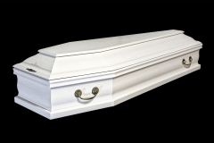 Купить гроб - М5 (белый, дуб)