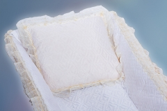 подушка в гроб/ шелк стежка подушка в гроб