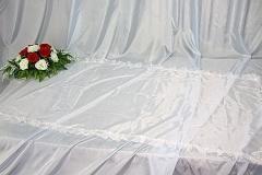 покрывало в гроб/ покрывало ритуальное шелк без символики