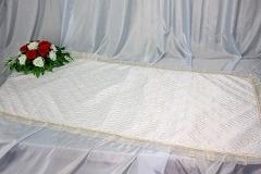 покрывало в гроб/ покрывало ритуальное  шелк стежка