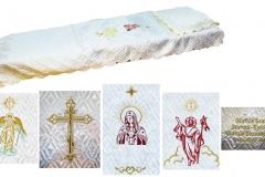 покрывало в гроб/ покрывало ритуальное  атлас стежка с вышивкой