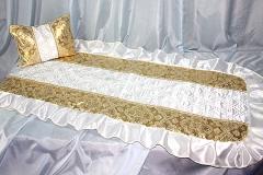покрывало в гроб/ покрывало ритуальное  Комплект Собор золото