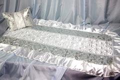 покрывало в гроб/ покрывало ритуальное  Комплект Собор серебро
