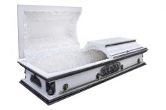 Купить гроб - Вегас ангел плоский белый 1