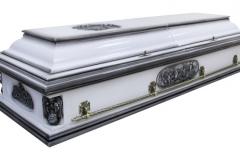 Купить гроб - Вегас ангел плоский белый