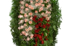 Венок из живых цветов №6