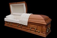 Эксклюзивный гроб/Элитный гроб двухкрышечный -CONCORD (дуб)