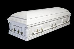 Эксклюзивный гроб/Элитный гроб двухкрышечный -DELAWARE (белый, дуб)