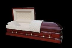 Эксклюзивный гроб/Элитный гроб двухкрышечный -DIPLOMAT (махагони)