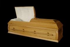 Эксклюзивный гроб/Элитный гроб двухкрышечный -JEWISH (орех) светлый
