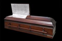 Эксклюзивный гроб/Элитный гроб двухкрышечный -JEWISH (орех) темный