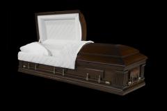 Эксклюзивный гроб/Элитный гроб двухкрышечный -MAGISTER (орех)