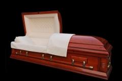 Эксклюзивный гроб/Элитный гроб двухкрышечный -MALORY (вишня)