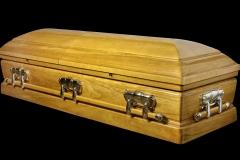 Эксклюзивный гроб/Элитный гроб двухкрышечный -OLYMPUS (павлоний) 1