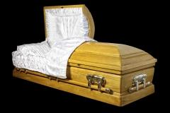 Эксклюзивный гроб/Элитный гроб двухкрышечный -OLYMPUS (павлоний) 2