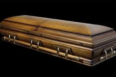 Эксклюзивный гроб/Элитный гроб двухкрышечный -RENAISSANCE (дуб) 1