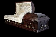 Эксклюзивный гроб/Элитный гроб двухкрышечный -VICTORIA (вишня, дуб) открытый