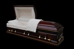 Эксклюзивный гроб/Элитный гроб двухкрышечный -WINFIELD (махагони)