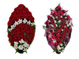 элитные венки на похороны из искусственных цветов
