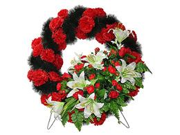 круглые венки на похороны